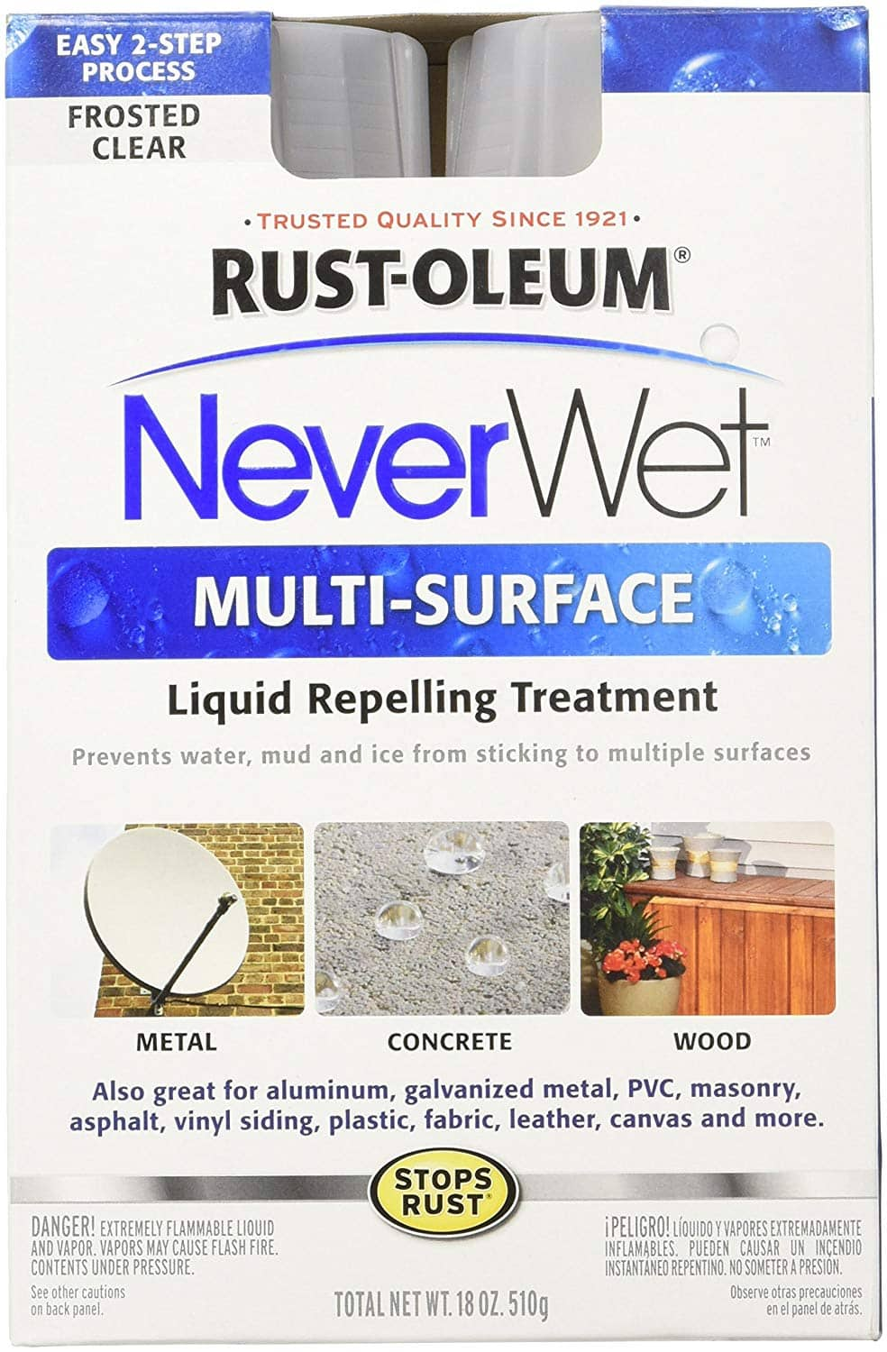 Rustoleum Neverwet - Frosted Clear - Two Spray Can Kit @ Dollar Tree ($6.75 @ Amazon, $15.09 @ Home Depot)