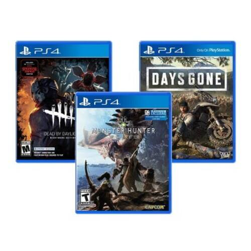 Days Gone, Dead By Daylight and Monster Hunter World (PS4)- $59.99 plus sales tax @ Target online with free shipping