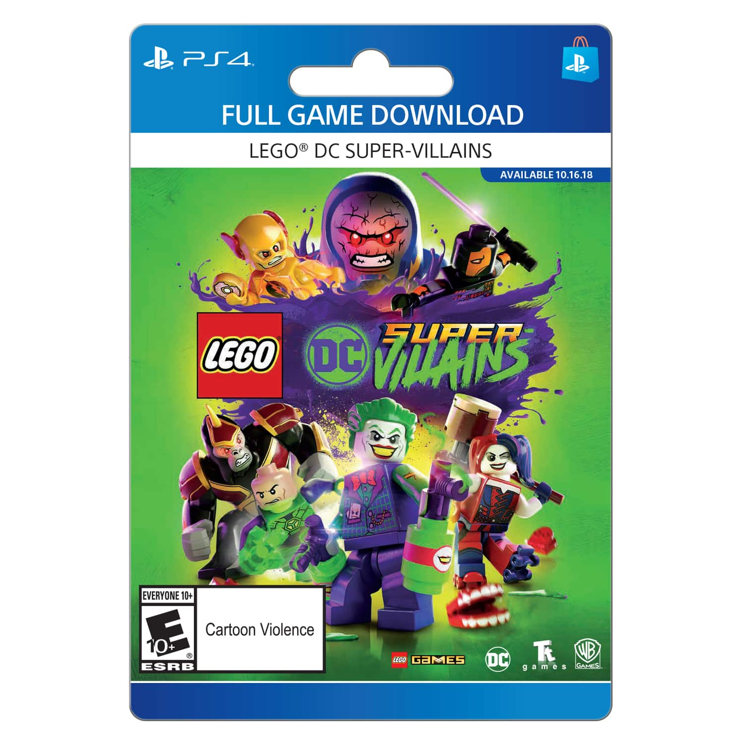 Lego DC Super Villains - PS4 - DIGITAL DOWNLOAD CARD/CODE - $5.34 at Wal-Mart - IN STORE ONLY