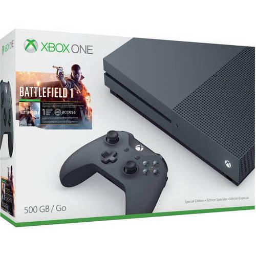 Xbox One S Battlefield 1 Special Edition Bundle, Storm Grey (500GB) - $150 @ Wal-Mart YMMV