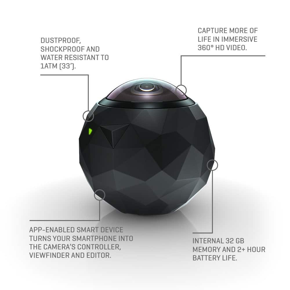 5% OFF 360fly 360° HD Video Camera $109.99 with a coupon code $104.5
