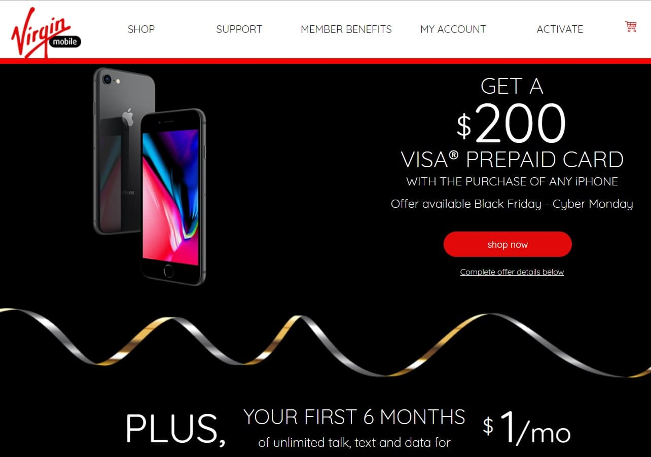 200 visa prepaid card with purchase off on any iphone first 6 months 1 - How To Get All Your Money Off A Prepaid Card