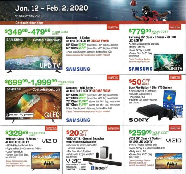 Costco Super Bowl Deals | Jan 12 - Feb 2, 2020