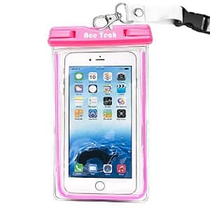 Ace Teah Clear Universal Waterproof Phone Case Pouch $3.99 AC @ Amazon.com + Free Shipping W/ Prime