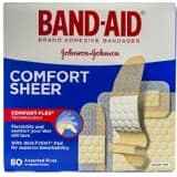 Amazon.com has BAND-AID Sheer Strips Adhesive Bandages, All One Size 40 each for $1.89 or $1.69 w/ S&S + FS!