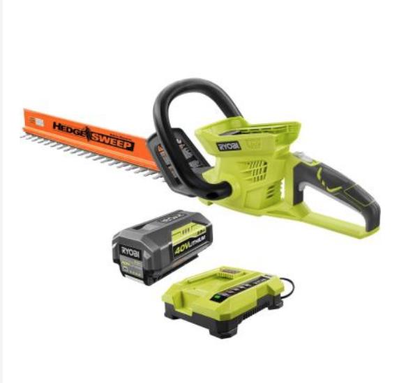 Home Depot Ryobi 40V Hedge Trimmer + Battery Model # RY40610A, Orig. $149.00 > $99.00 now $43.03 YMMV