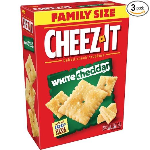 Cheez-It Crackers, White Cheddar, 3x 21oz Boxes =$8.42/$7.12 @amazon S&S