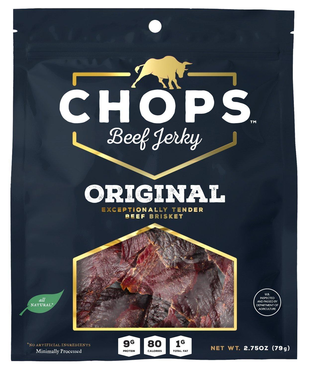 Chops Beef Jerky Original (5-Pack) =$18 @amazon S&S 5-item 15%