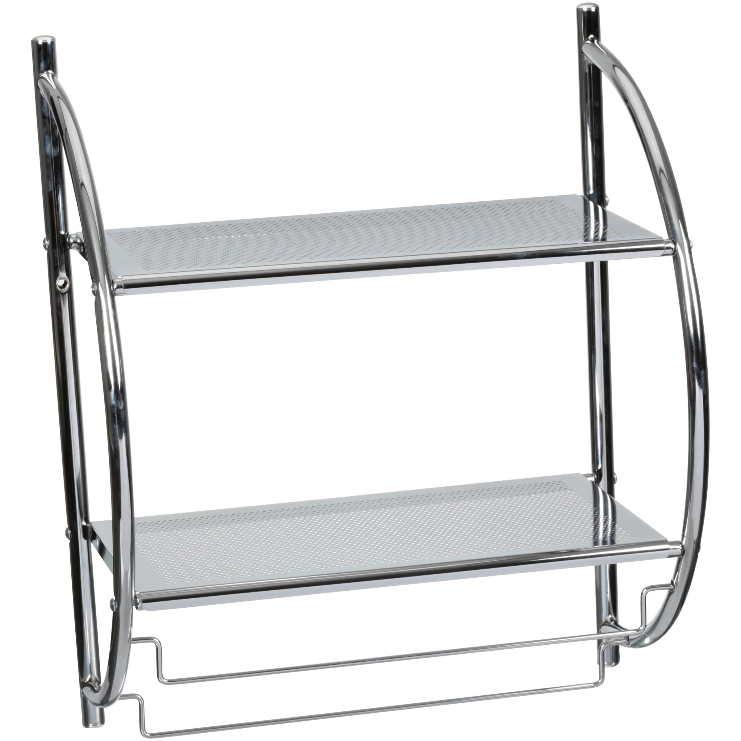 Neu Home® 2 Tier Mounting Shelf with Towel Bars $14.99