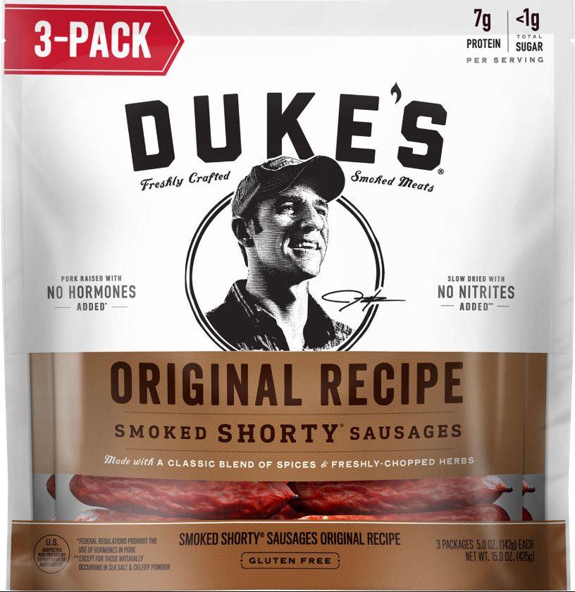 Duke's Original Recipe Smoked Shorty Sausages $7.61 3pk @Sam's Club B&M