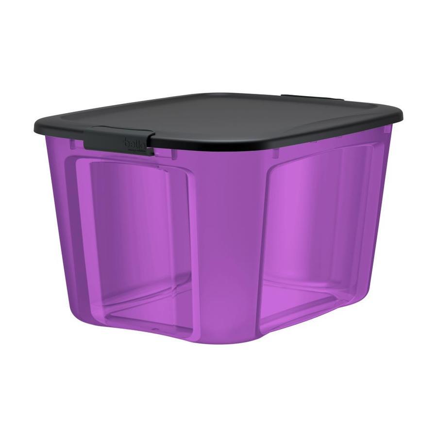 Bella Storage Solution 18 gallon purple tote w/ latching lid YMMV $2.99