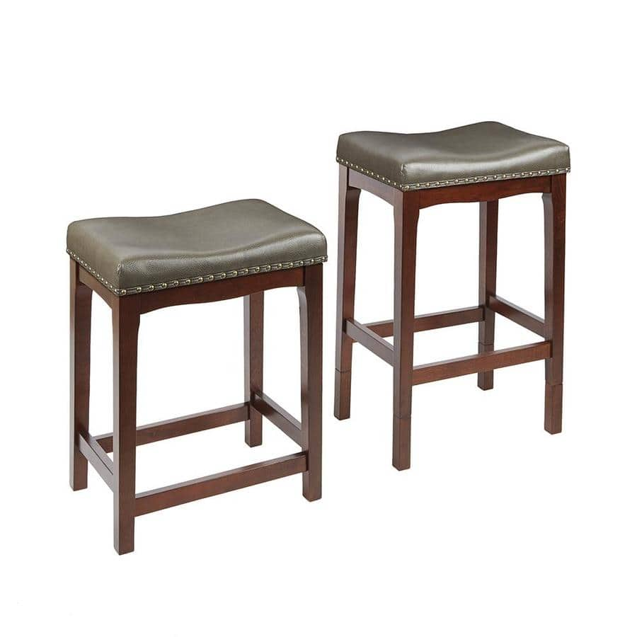 Set of 2 Farmhouse Chocolate Adjustable Stools for $64 after cp