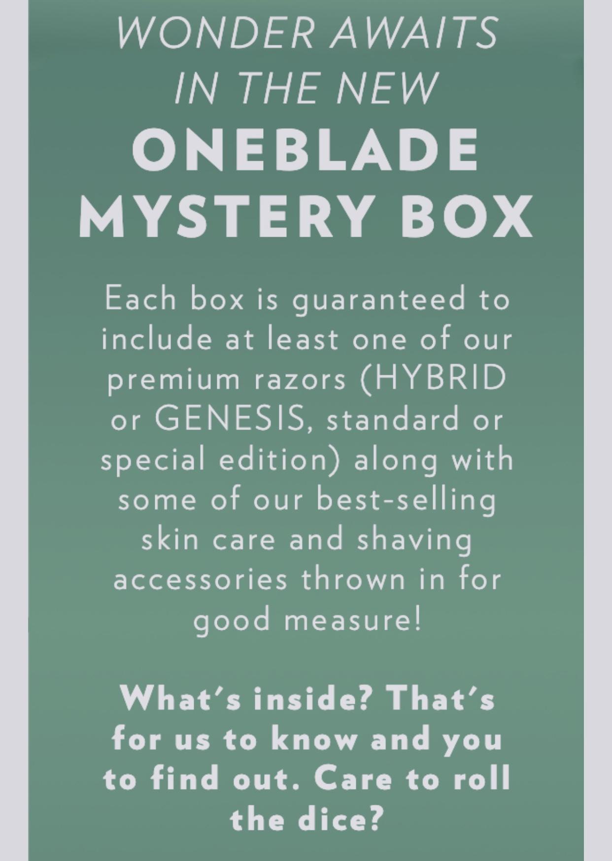 OneBlade Mystery Box ($150 Value) $60