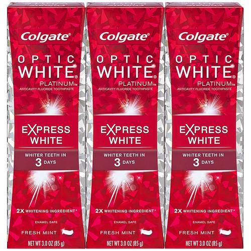 Prime w/ Alexa: Colgate Optic White Express White Whitening Toothpaste - 3 ounce (3 Pack) $5.99