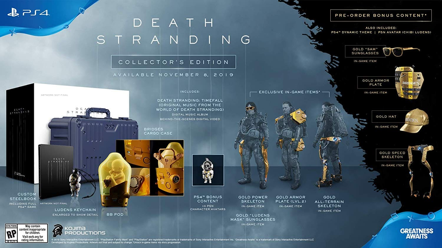 Death Stranding - PlayStation 4 Collector's Edition [Collector's] $169.99