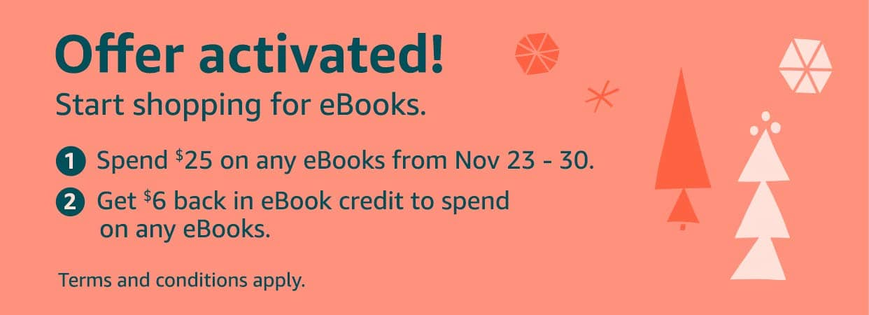 YMMV: Spend $25, Get $6 (Kindle eBooks)