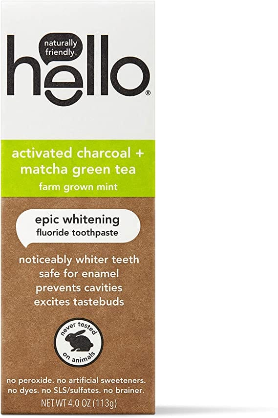 4-Count Hello Charcoal Toothpaste w/Matcha, $6.24 + Free S&H w/ Prime or $25+ - YMMV