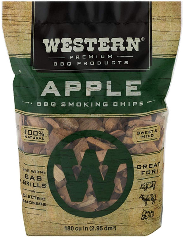 Amazon.com : Western Smoking Chips, Apple, Cherry, Hickory, 180 cu in : Smoker Chips : Garden & Outdoor $2.97