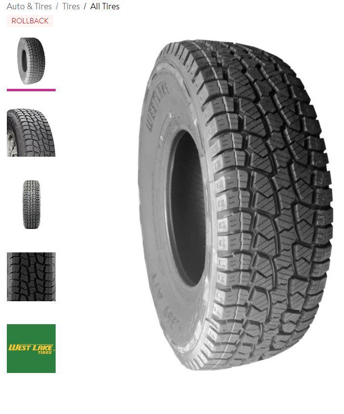 Westlake SL369 265/75R16 123 Q Tire $100