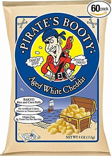 Pirate's Booty Aged White Cheddar, 0.5 Ounce (Pack of 60) $14.99  / S/S 14.22