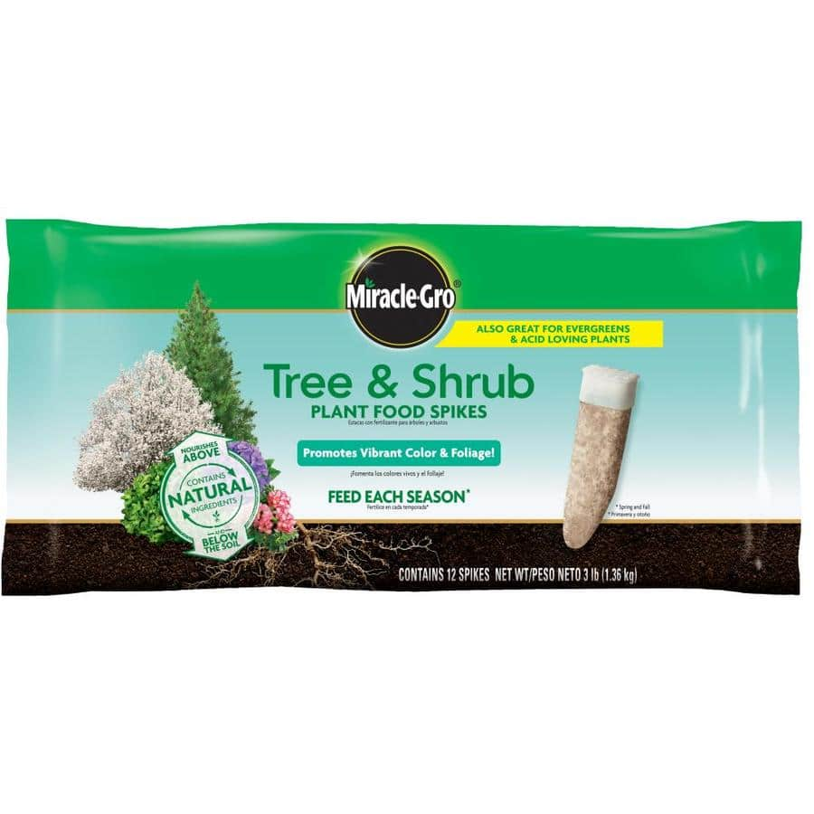 Lowe's in-store at Gilroy CA store: Miracle-Gro Tree and Shrub Plant Food Spikes Tree Food (15-5-10) $2.49