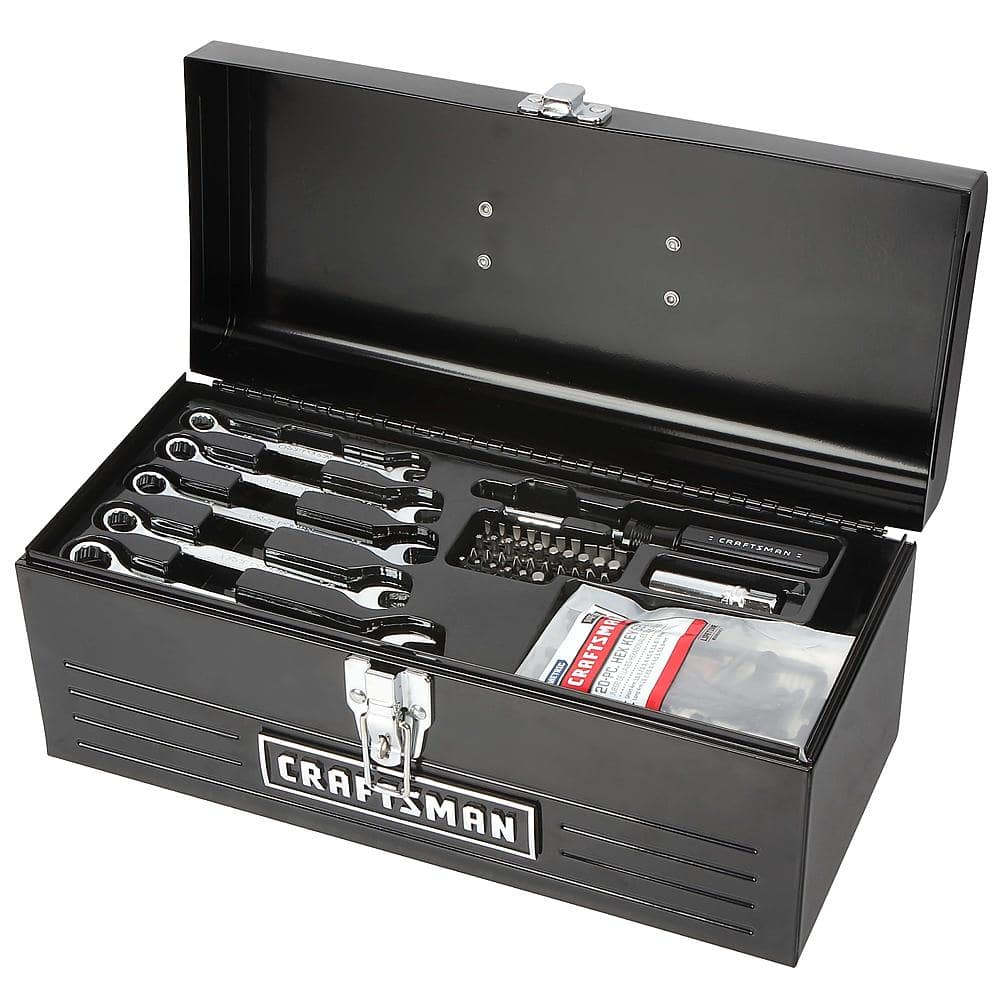 "Craftsman 130 pc. Mechanics' Tool Set & 16"" Metal Toolbox $44.94"