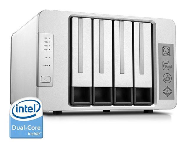 NOONTEC-TerraMaster F4-220 NAS Server 4-Bay Intel Dual Core 2.41GHz 2GB $259