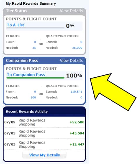 1300 Southwest Rapid Rewards points for only 99 cents!!!!! (AA, UA, DL, US similar point offers as well)