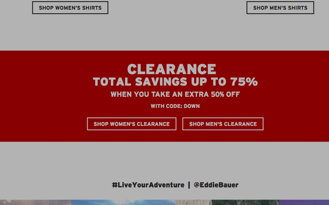 54ca0d38635bc Eddie Bauer - 50% off clearance - Slickdeals.net