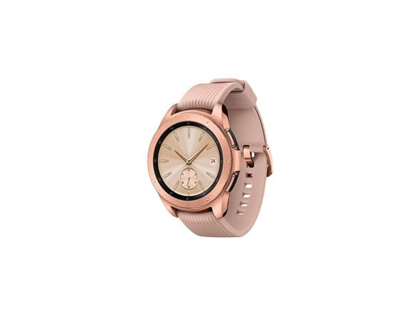 Samsung Galaxy Watch (42mm) Smartwatch (Bluetooth) Android/iOS Compatible -SM-R810 (Rose Gold) $219.99