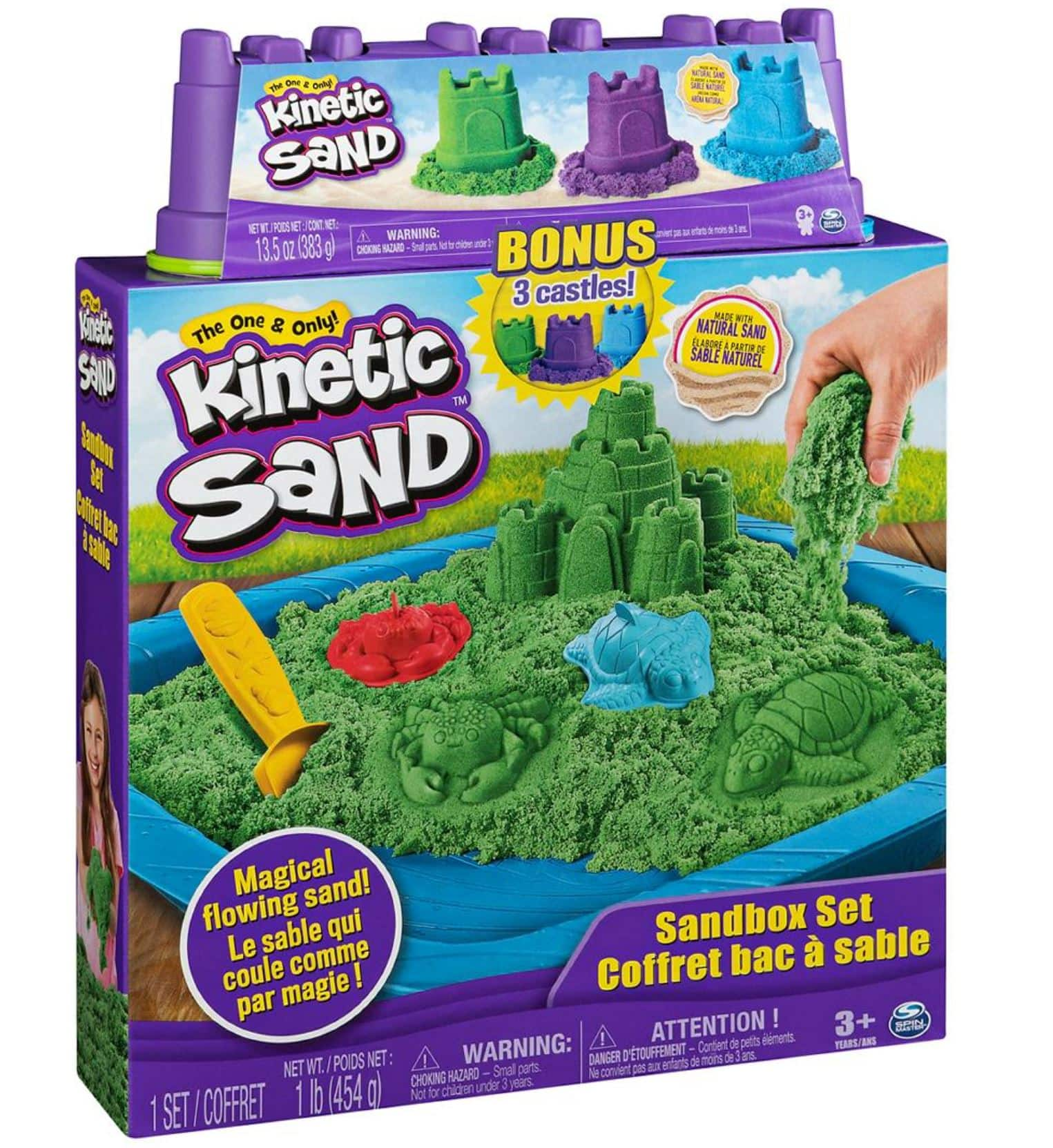 Kinetic Sand 1lb Sandbox Set with 3 Bonus Sandcastles (4.5oz each) $1.97 each for 8. BJ's Wholesale Club