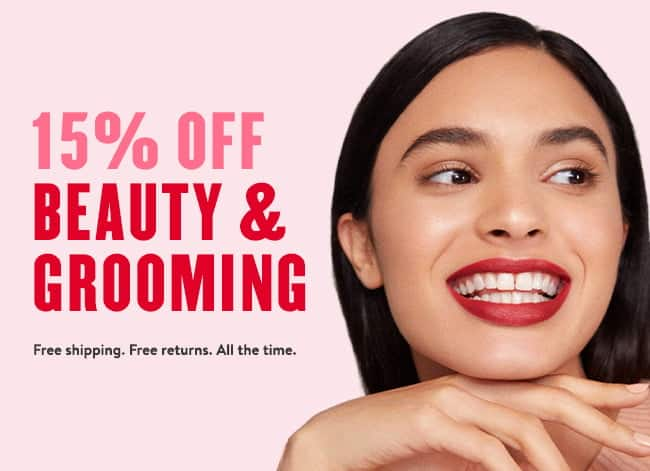 Nordstrom - Beauty and Grooming  - 15% off + Free Shipping $0.01