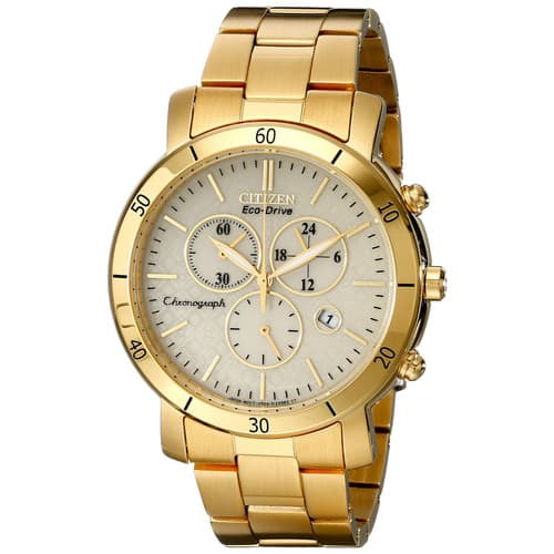 Citizen Women's FB1342-56P Chronograph Eco-Drive Stainless Steel Gold Tone Watch $69.99 FREE SHIPPING!