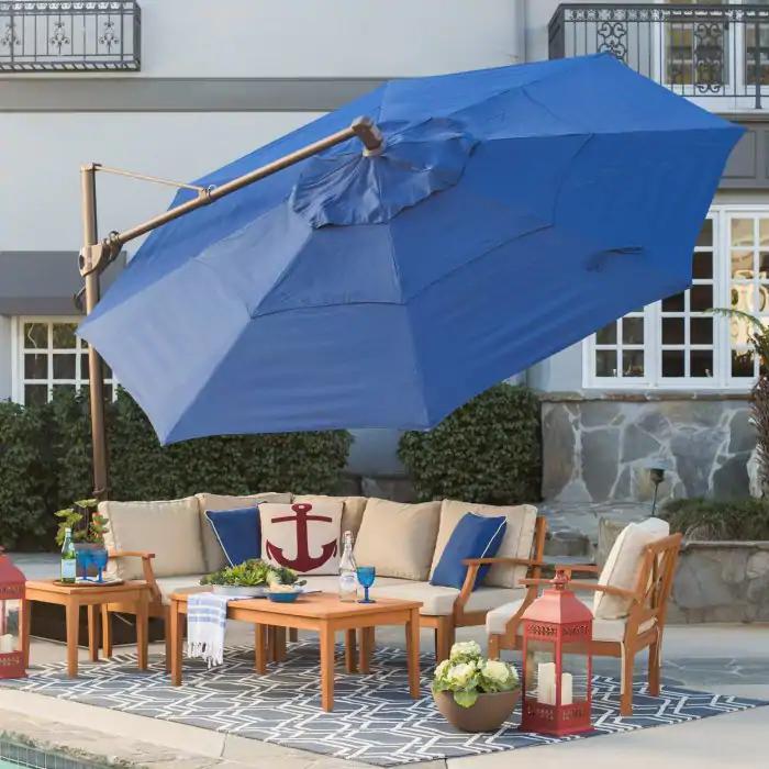Belham Living 13-ft. Sunbrella Rotating Offset Umbrella with Tilt $509.15 w/ Free Shipping
