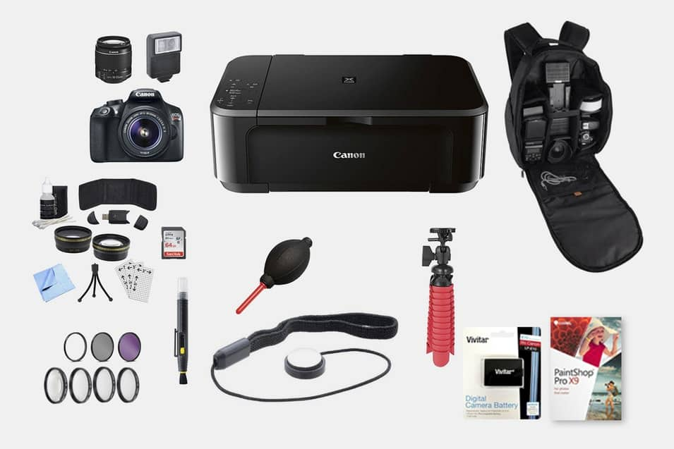 Canon T6 DSLR Bundle w/ 18–55mm, Printer & More $449.99