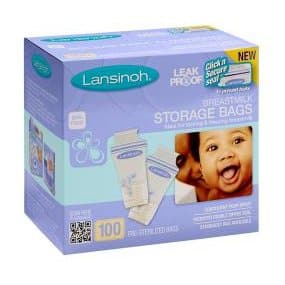 Lansinoh Breastmilk Storage Bags, 100 Count, BPA Free and BPS Free for $10.63 or less at Amazon.com with Subscribe and Save