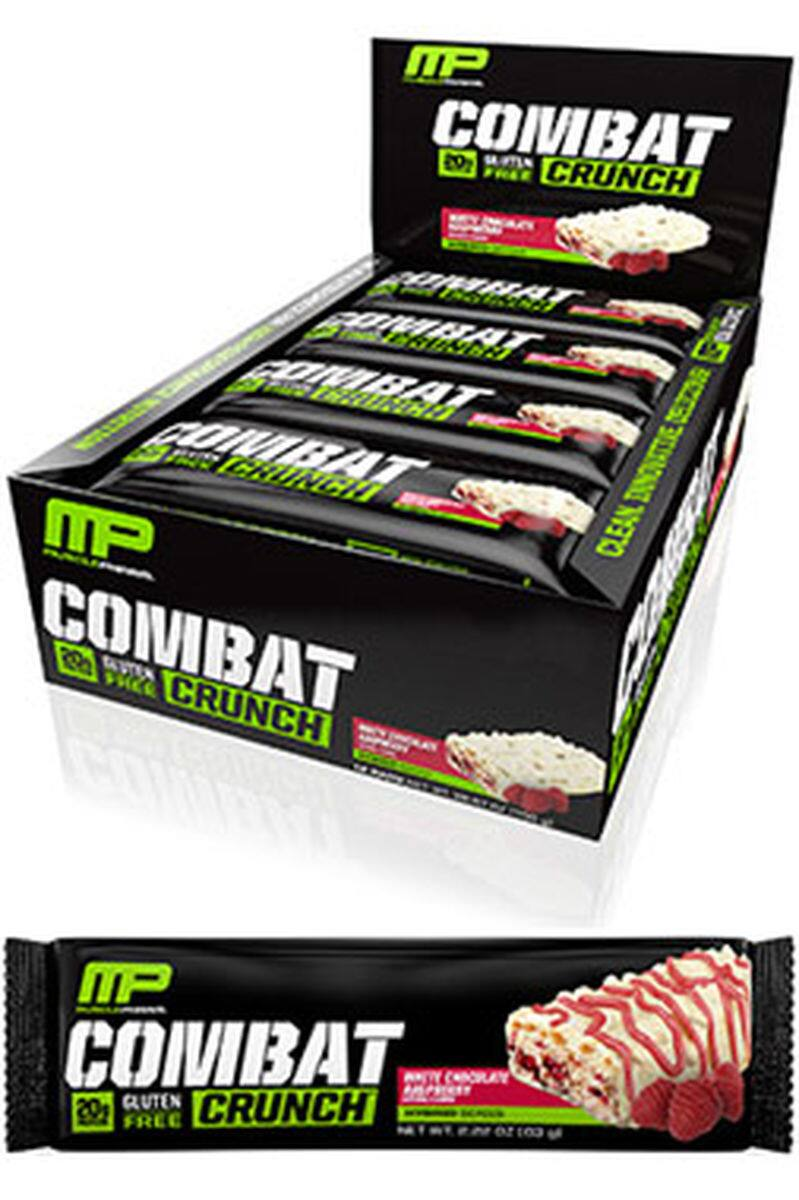 Muscle Pharm Combat Crunch Bars (12 Bars – Only White Chocolate Raspberry) is on sale for $6.28!