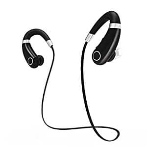 Bluetooth Headphones/Earbuds, Wireless, Sweatproof, Enhanced Bass, Noise Reduction, Ergonomic Design - $8.76 @ Amazon