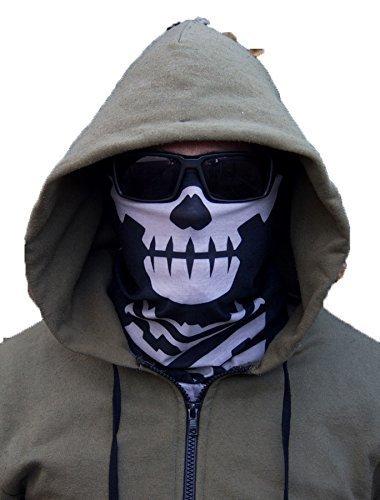 Skull Mask / Face Shield (Two pack) - Black - $3.59