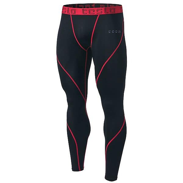 Tesla Men's Compression Pants Baselayer Cool Dry Sports Tights Leggings $11.98