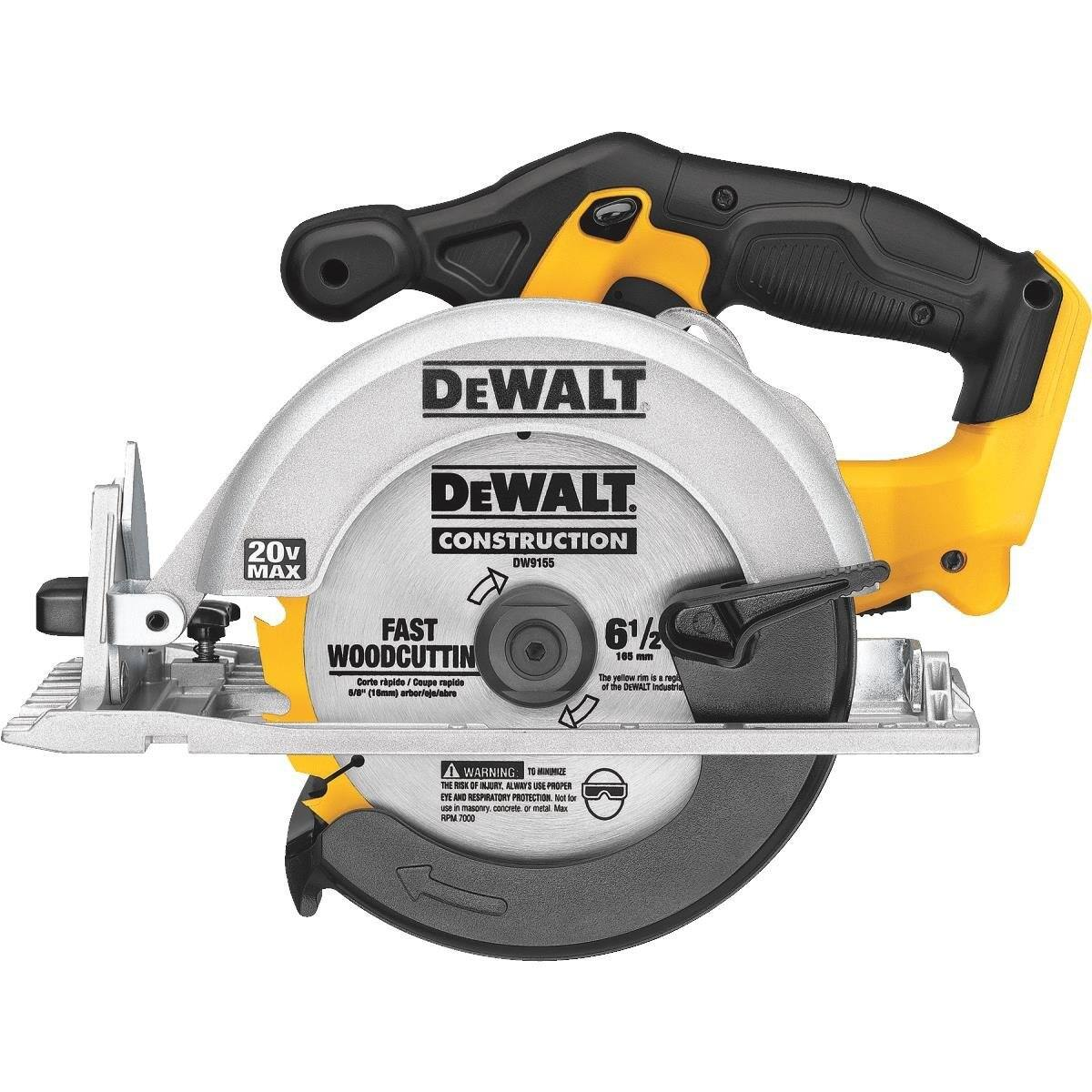 DEWALT DCS391B 20-Volt MAX Li-Ion Circular Saw, Tool Only + DEWALT DCB200C Battery Pack and Charger $119