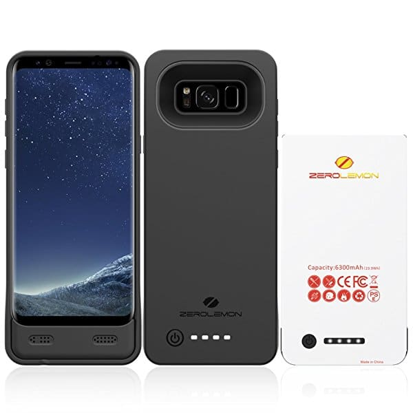 Galaxy S8 Plus Battery Case, ZeroLemon 6300mAh Extended Battery Case Rechargeable Charging Case with Soft TPU Full Edge Protection Case for Samsung Galaxy S8 Plus $19.79 @ Amazon