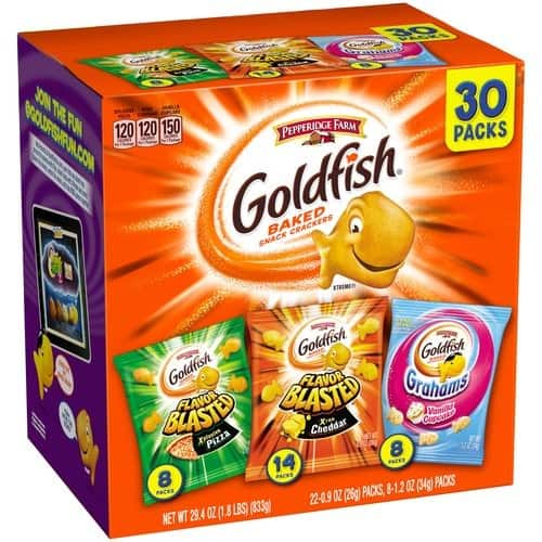 Pepperidge Farm Goldfish Variety Pack Bold Mix, (Box of 30 bags) $9.48 at Amazon.