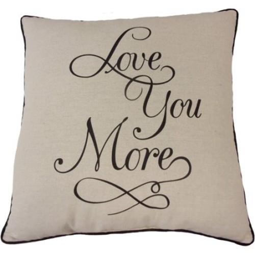 Mainstays Love You More Pillow $10.54@Walmart.