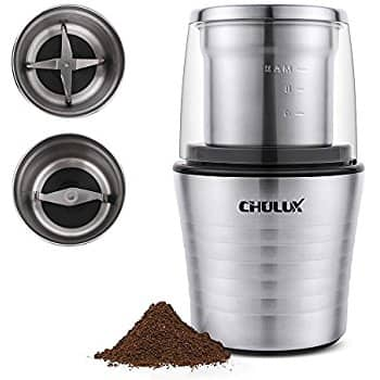 CHULUX Electric Spices and Coffee Grinder with 2.5 Ounce Two Detachable Cups $27.49+FS@Amazon.