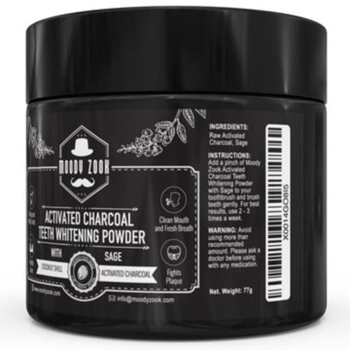 Charcoal Teeth Whitening Powder by Moody Zook $5.99+FS@Amazon.