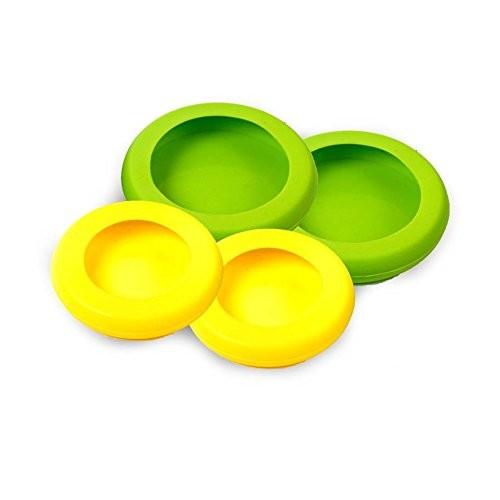 Farberware Food Huggers Reusable Silicone Food Savers, Set of 4, Fresh Greens | 15% Off Promo Code! $8.5