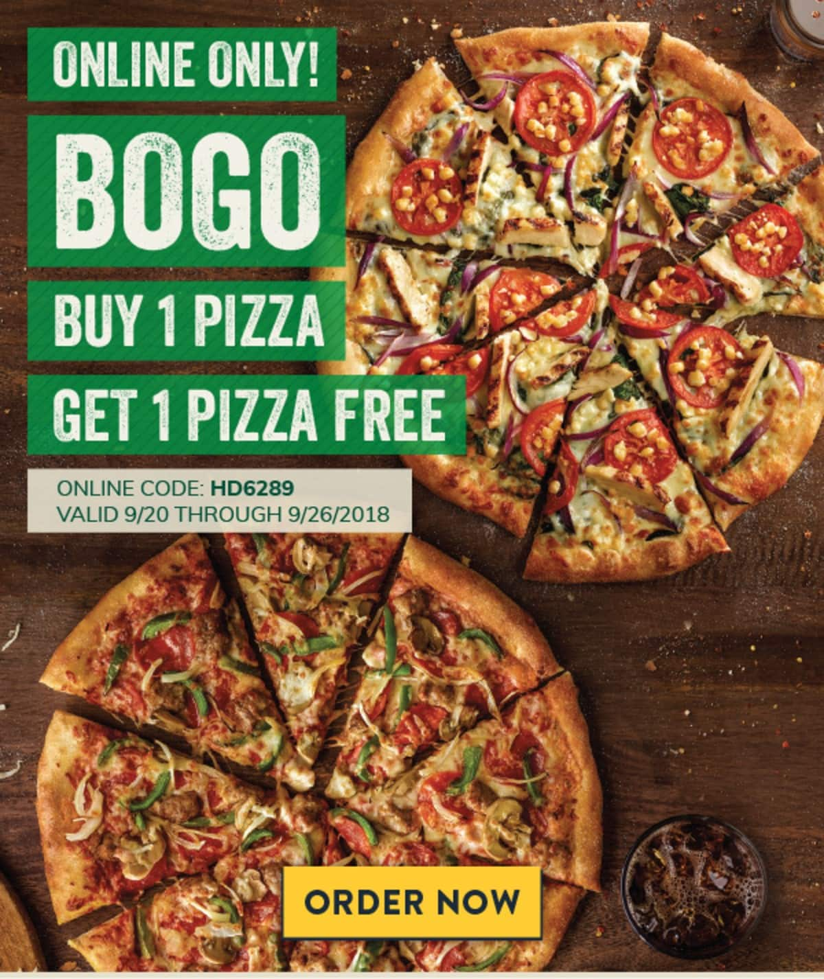 """🍕 Special BOGO Offer For Entering Our """"Win A Free Pizza For A Year"""" Sweepstakes 🍕 Marcos Pizza"""