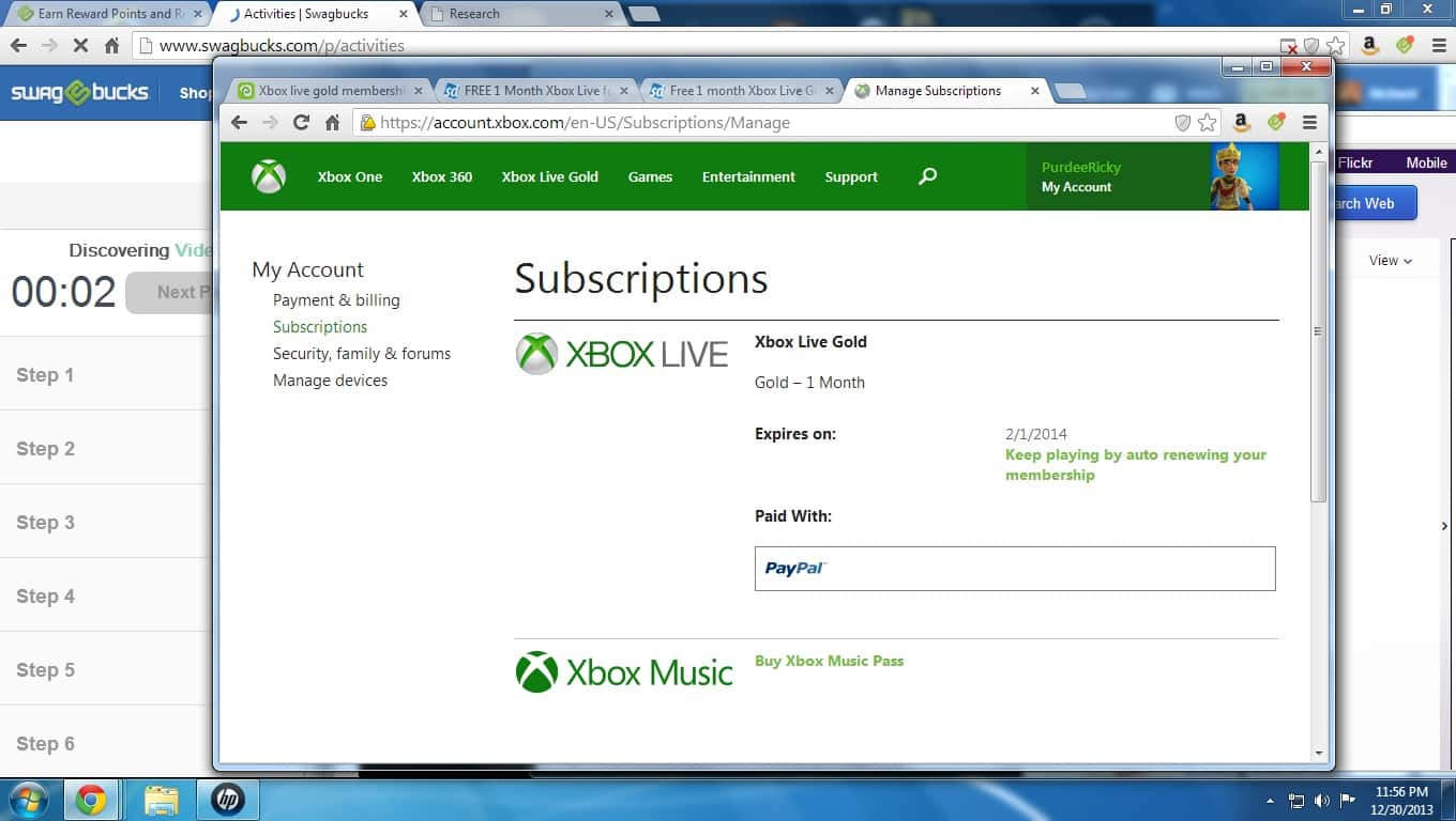Free 1 month Xbox Live Gold for Silver members only. May require mobile device/mobile web browser, Android, iOS, etc.