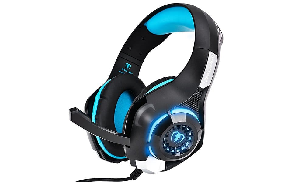 Gaming Headset - 3.5mm Wired Stereo Headphones with Microphone for Xbox One PC PS4 w/ LED Light $12.99 FS